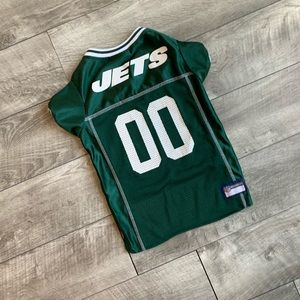 Green NY Jets NFL pet football jersey